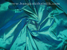 Sea Green Shot Blue 100% Authentic Silk Fabric