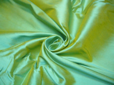 Moss Green Shot Yellow 100% Authentic Silk Fabric