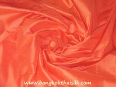 Orange Satsuma 100% Authentic Silk Fabric