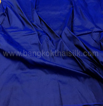 Cobalt Shot Black 100% Authentic Silk Fabric