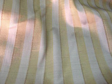 Gold Silver Stripes100% AUTH Silk Fabric