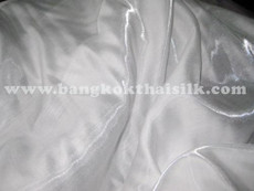 White Japanese Soft Faux Silk Fabric