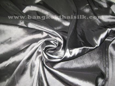 "Dark Silver Gray Faux Silk Taffeta 60""W Fabric"