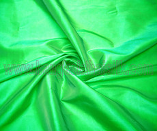 "Apple Green Faux Silk Taffeta 60""W Fabric"