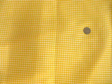 "Gingham 1/8"" Yellow White Check 100% Cotton Fabric"