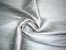 Silver Grey 100% Silk Dupioni Fabric