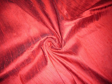 Dark Red 100% Silk Dupioni Fabric