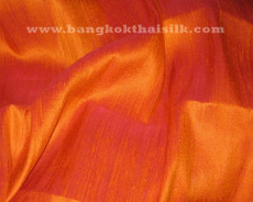 Marigold Orange 100% Silk Dupioni Fabric
