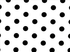 White Polka Dots print on Black Cotton Fabric
