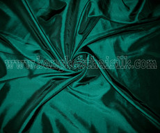 "Dark Green Faux Silk Taffeta 60"" Fabric"
