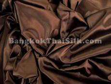 "Chocolate Brown Satin Fabric 45""W"