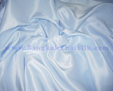 "Pale Blue Satin Fabric 45""W"