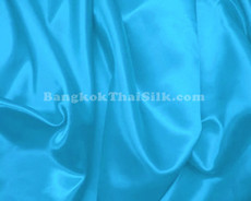 "Turquoise Blue Satin Fabric 45""W"