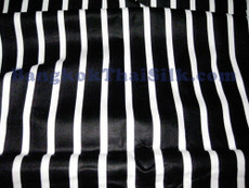 "Black & White Pin Stripe 100% Polished Cotton Fabric 44""W"