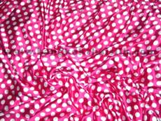 """Polka Dot Satin 48""""W Pink & White Dot"""