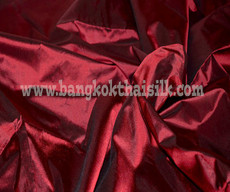 Red Shot Black 100% Authentic Silk Fabric