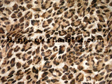 "CHEETAH ANIMAL PRINT BROWN CHIFFON 60""W FABRIC"