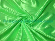 "Vibrant Green Satin Fabric 45""W"