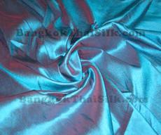 Blue Shot Red 100% Silk  Dupioni Fabric