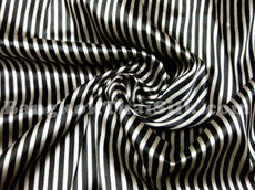 "Gold & Black Stripe Satin 44"" Fabric"