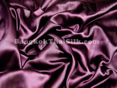"Eggplant Purple Satin Fabric 45""W"