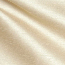 "Faux Silk Caprice Dupioni 60""W Fabric - Cream"