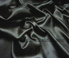 "Faux Silk Caprice Dupioni 60""W Fabric - Black"