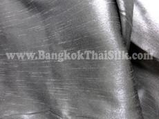 "Faux Silk Caprice Dupioni 60""W Fabric - Dark Silver Grey"