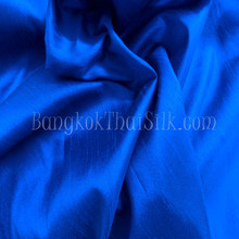 "Faux Silk Caprice Dupioni 60""W Fabric - Royal Blue"