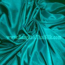 """Faux Silk Caprice Dupioni 60""""W Fabric - Teal Green"""