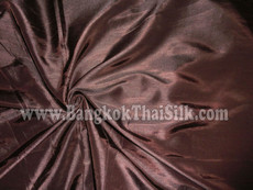 "Faux Silk Caprice Dupioni 60""W Fabric - Chocolate Brown"
