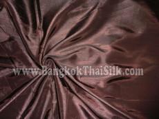 "Faux Silk Caprice Dupioni 60""W Fabric - Chocolate Brown"
