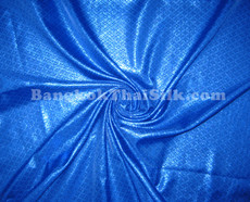 Diamond Bling Bling Metallic Brocade Fabric - Royal Blue