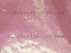 Sequin Satin Fabric - Hologram Pink