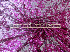 Sequin Mesh Dangle Fabric - Pink & Silver