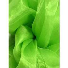 Sheer Mirror Organza - Lime Green