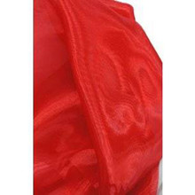 Sheer Mirror Organza - Red