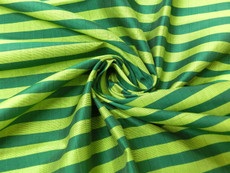 Chartreuse & Green Pin Stripe 100% AUTH Silk Fabric