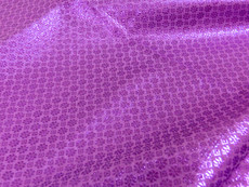 Floral Bling Bling Metallic Brocade Fabric - Lavender & Lilac