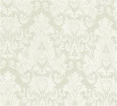 Damask Faux Silk Fabric - Ivory