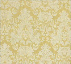 Damask Faux Silk Fabric - Yellow & Gold