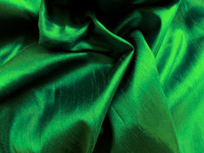 "Faux Silk Caprice Dupioni 60""W Fabric - Emerald Green"