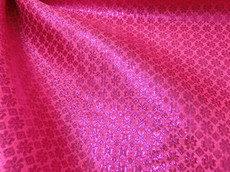 Diamond Bling Bling Metallic Brocade Fabric - Hot Pink