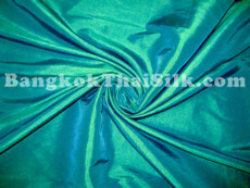 "Caribbean Green Faux Silk Taffeta 60"" Fabric"