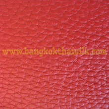 Faux Calf Leather Fabric - Red