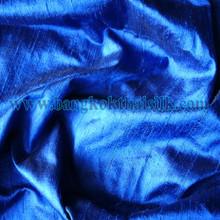 Royal Blue 100% Silk  Dupioni Fabric