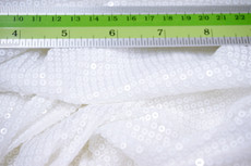 Small Sequin Fabric - White