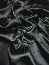Heavy Silky Dupioni with Satin Back Fabric - Black