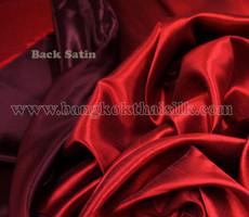 Heavy Silky Dupioni with Satin Back Fabric - Dark Red
