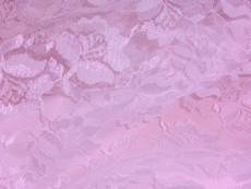 Freesia Flower Net Mesh Fabric - Primrose Pink